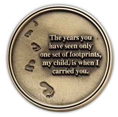 Footprints Medallion